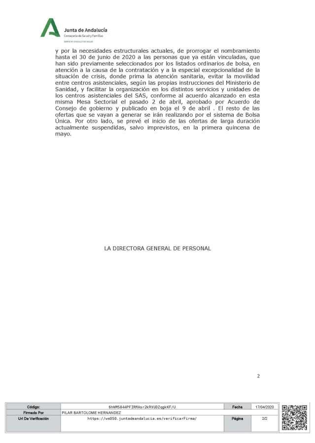 Resolución DGP sobre acuerdo prorroga de nombramientos personal estaturario de MS de Sanidad_firm (1)_Página_2